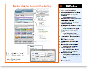 Quantum 2010 Voice over IP Brochure, PDF format